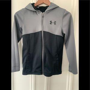 Black/grey under Armour zip hoodie Medium